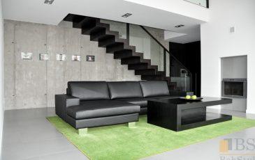 Kompleksowa realizacja domu,, nowoczesne biurko, biurko czarne, meble do salonu