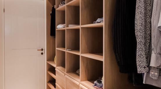 Garderoba dębowa, szafa zabudowana, meble na wymiar