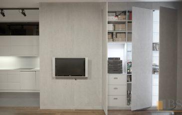 Szafa betonowa, zabudowa szafa betonowa zabudowa ściany, garderoba